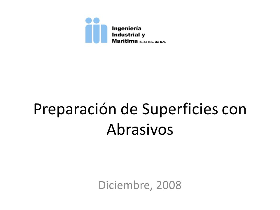 Preparación de Superficies con Abrasivos