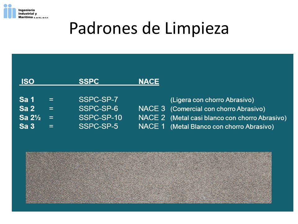 Padrones de Limpieza ISO SSPC NACE