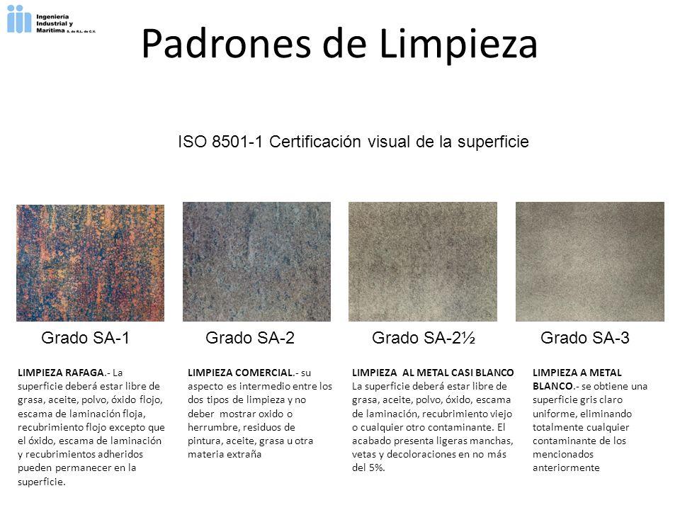 ISO 8501-1 Certificación visual de la superficie