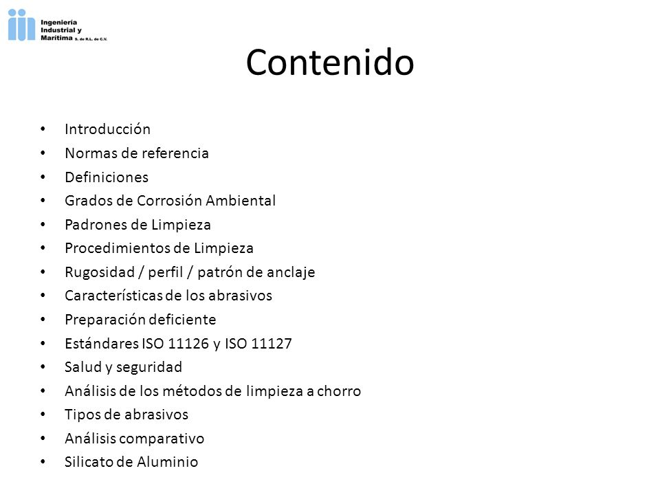 Contenido Introducción Normas de referencia Definiciones
