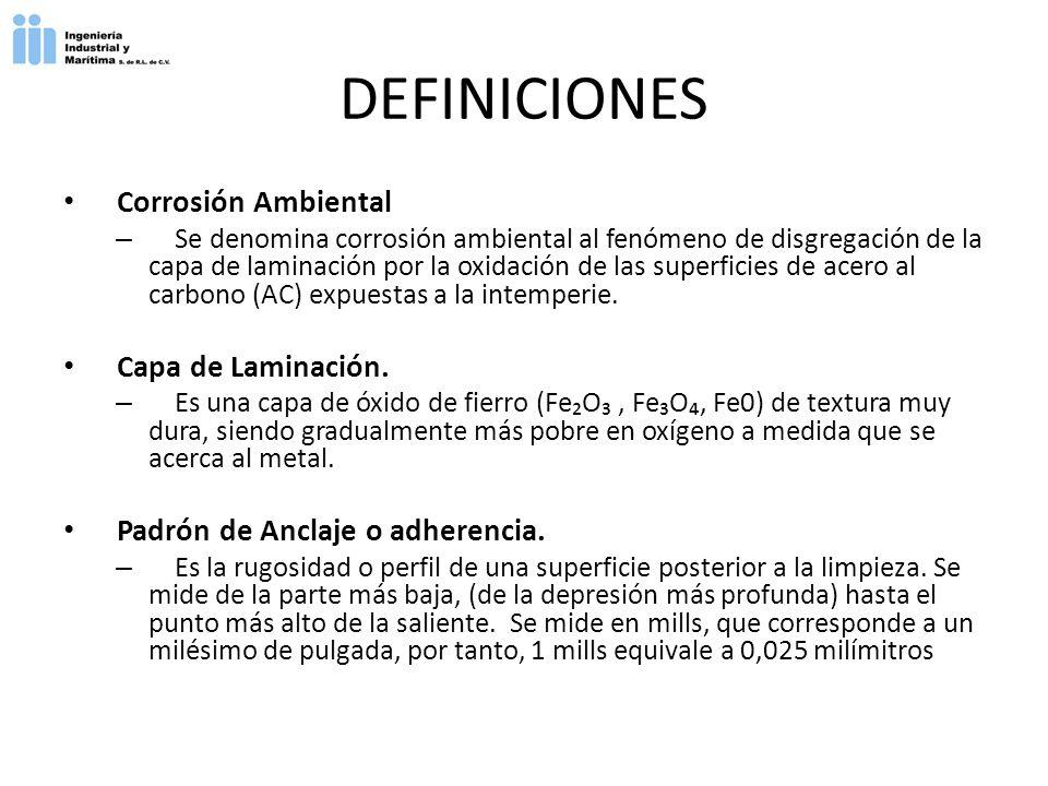 DEFINICIONES Corrosión Ambiental Capa de Laminación.