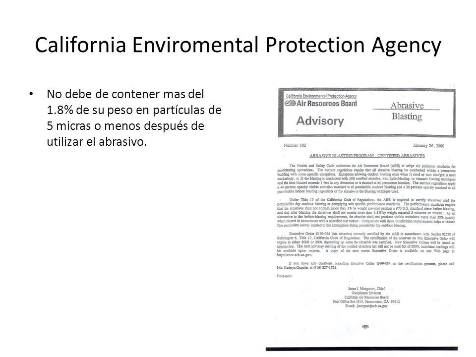 California Enviromental Protection Agency