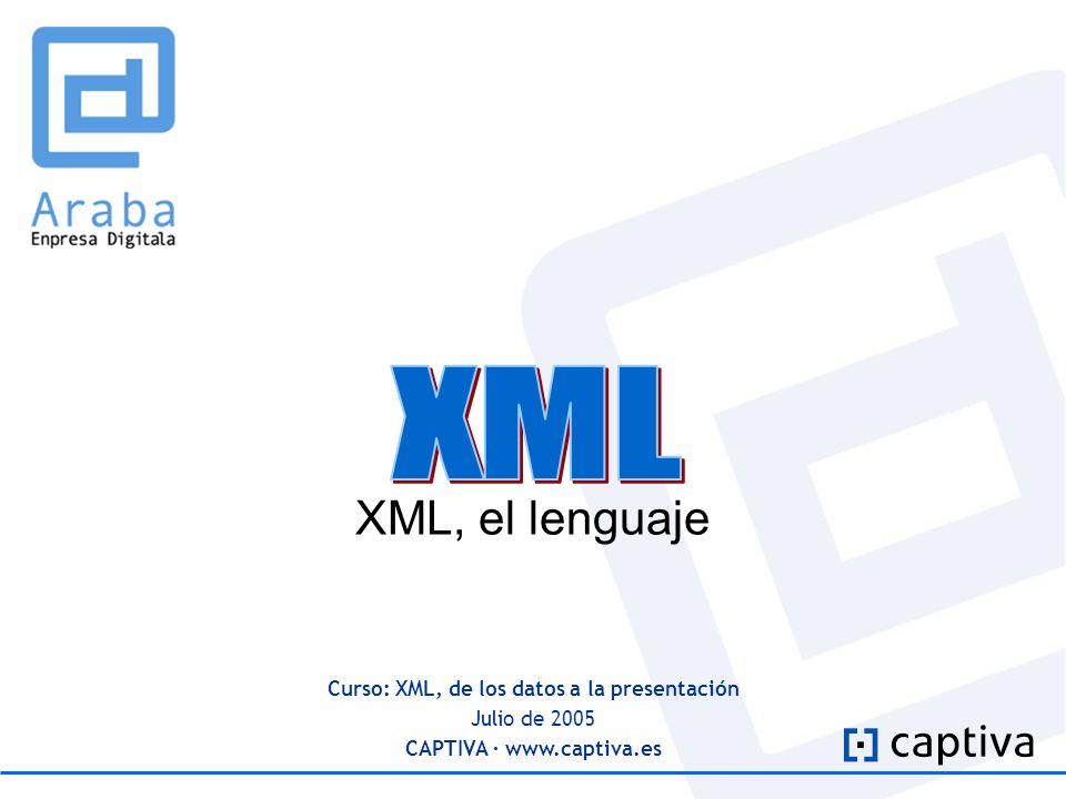 Curso: XML, de los datos a la presentación CAPTIVA · www.captiva.es