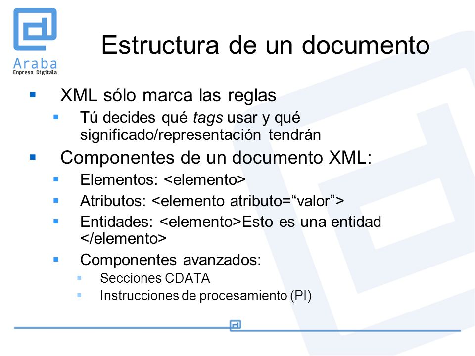 Estructura de un documento