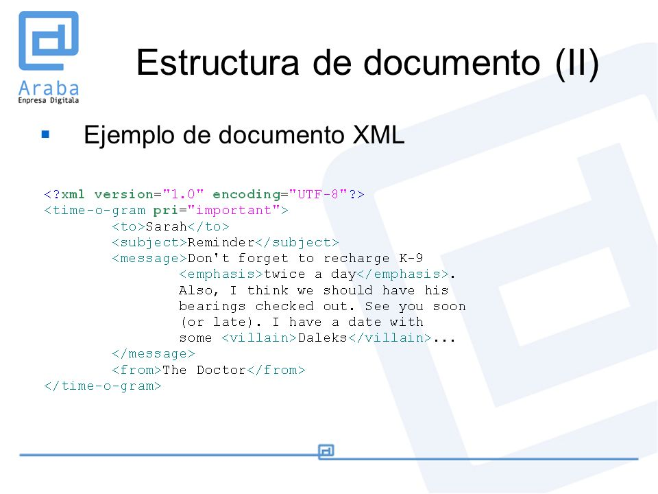 Estructura de documento (II)