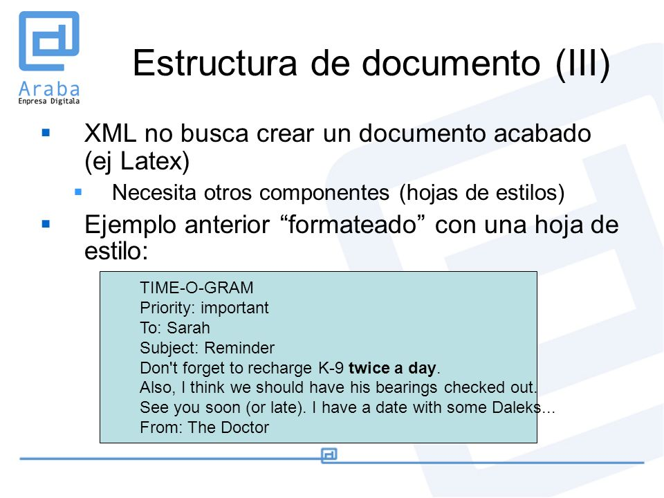 Estructura de documento (III)