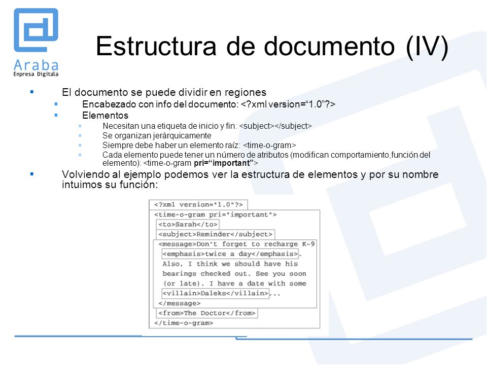 Estructura de documento (IV)