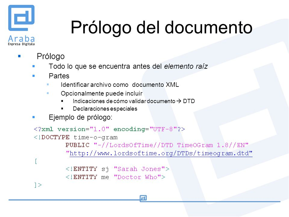 Prólogo del documento Prólogo