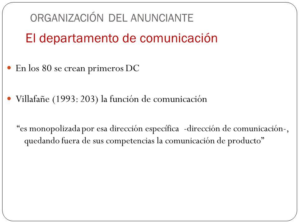 El departamento de comunicación