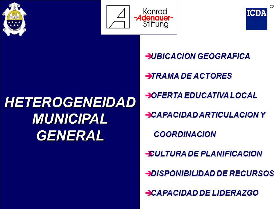 HETEROGENEIDAD MUNICIPAL GENERAL