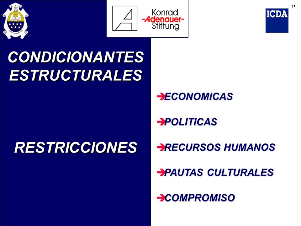 CONDICIONANTES ESTRUCTURALES RESTRICCIONES