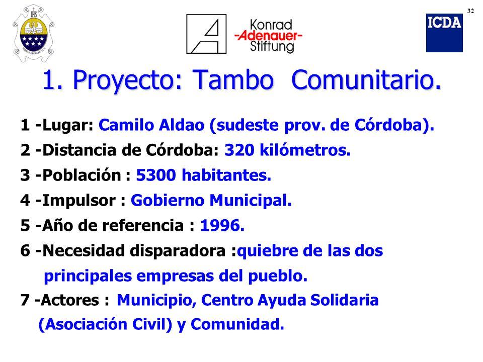 1. Proyecto: Tambo Comunitario.