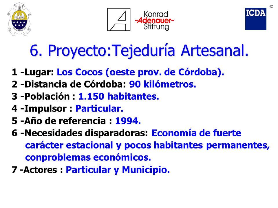 6. Proyecto:Tejeduría Artesanal.