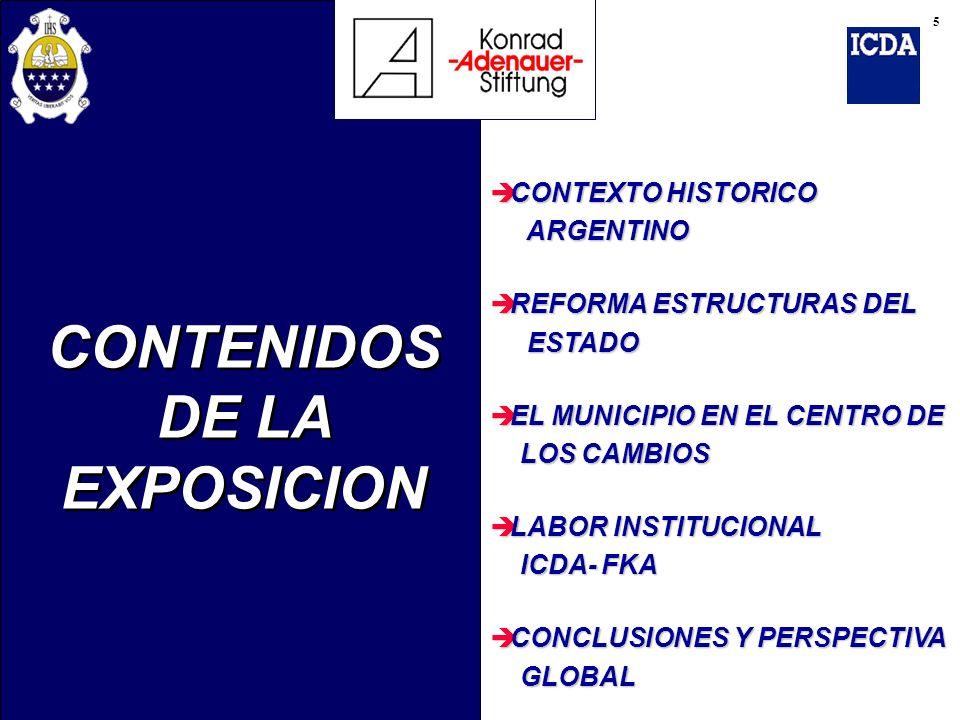 CONTENIDOS DE LA EXPOSICION