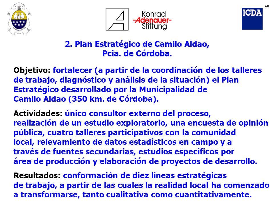 2. Plan Estratégico de Camilo Aldao, Pcia. de Córdoba.