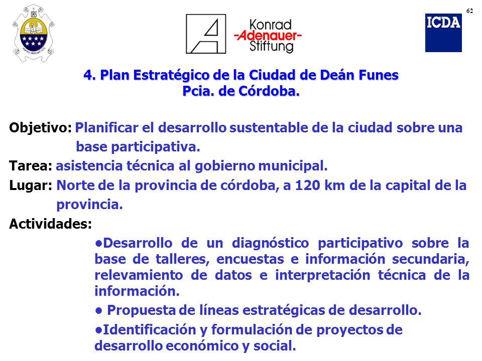 4. Plan Estratégico de la Ciudad de Deán Funes Pcia. de Córdoba.