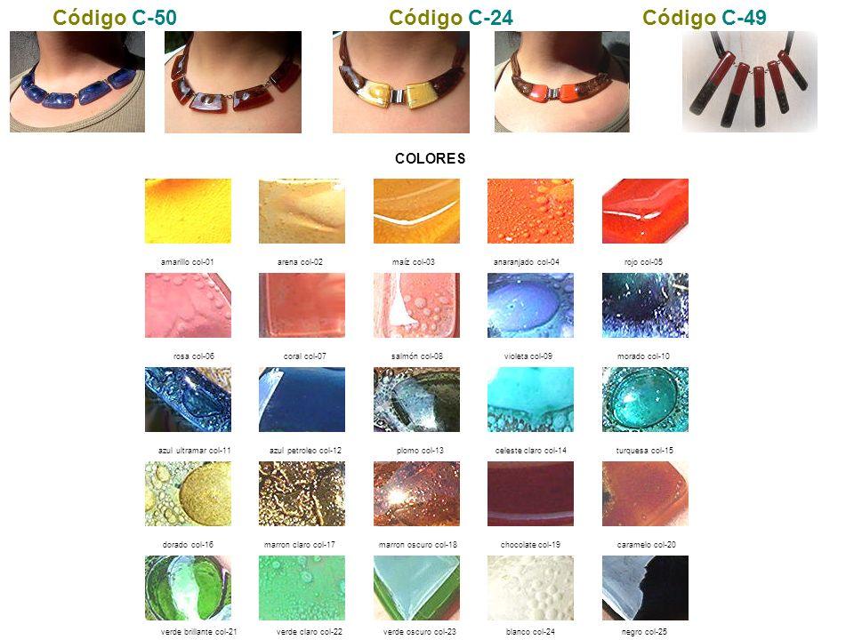 Código C-50 Código C-24 Código C-49 COLORES amarillo col-01
