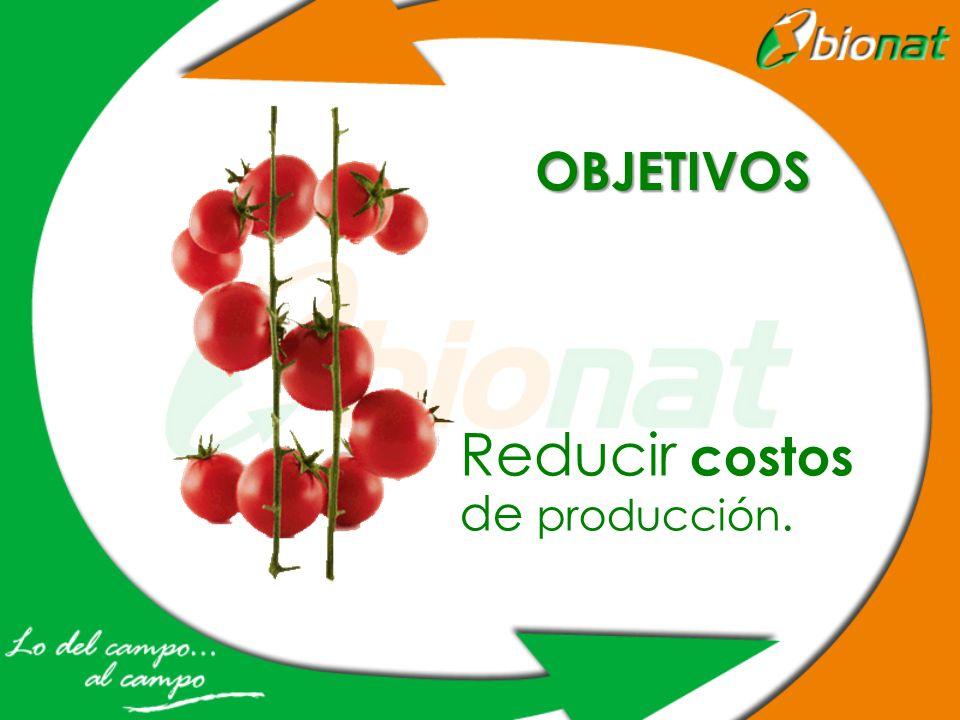 Reducir costos de producción.