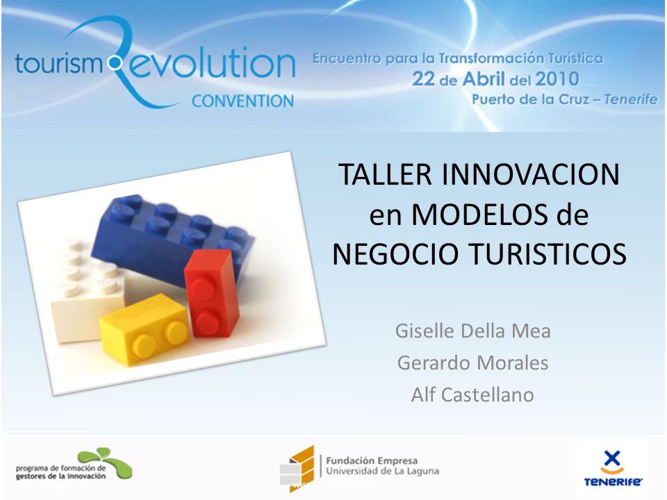 TALLER INNOVACION en MODELOS de NEGOCIO TURISTICOS