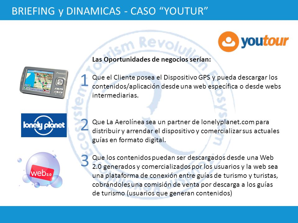 1 2 3 BRIEFING y DINAMICAS - CASO YOUTUR