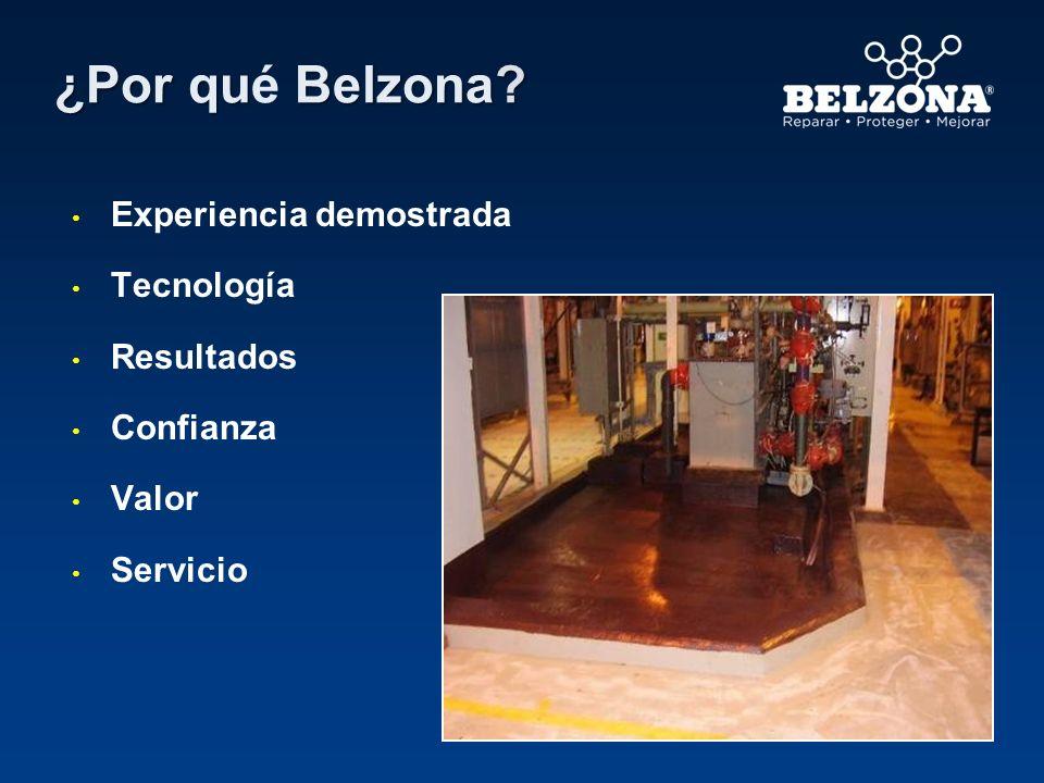 ¿Por qué Belzona Experiencia demostrada Tecnología Resultados