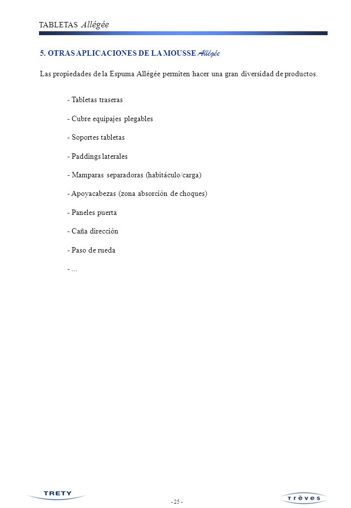 5. OTRAS APLICACIONES DE LA MOUSSE Allégée
