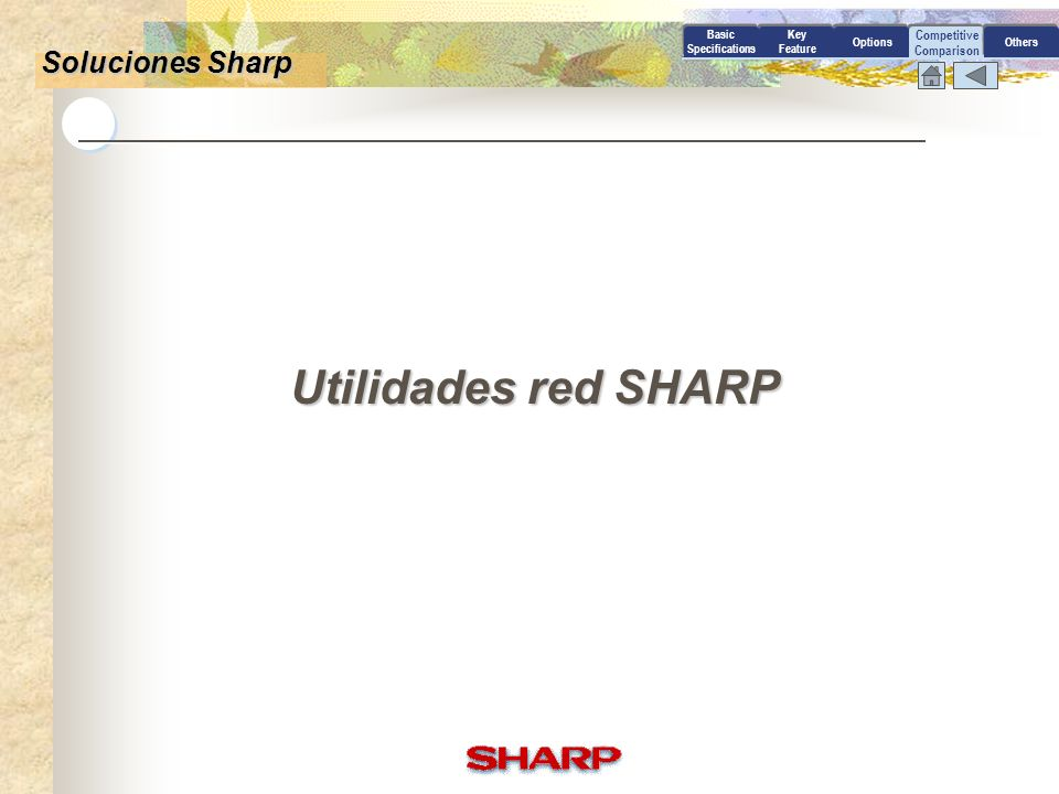 Utilidades red SHARP Soluciones Sharp Competitive Comparison Basic