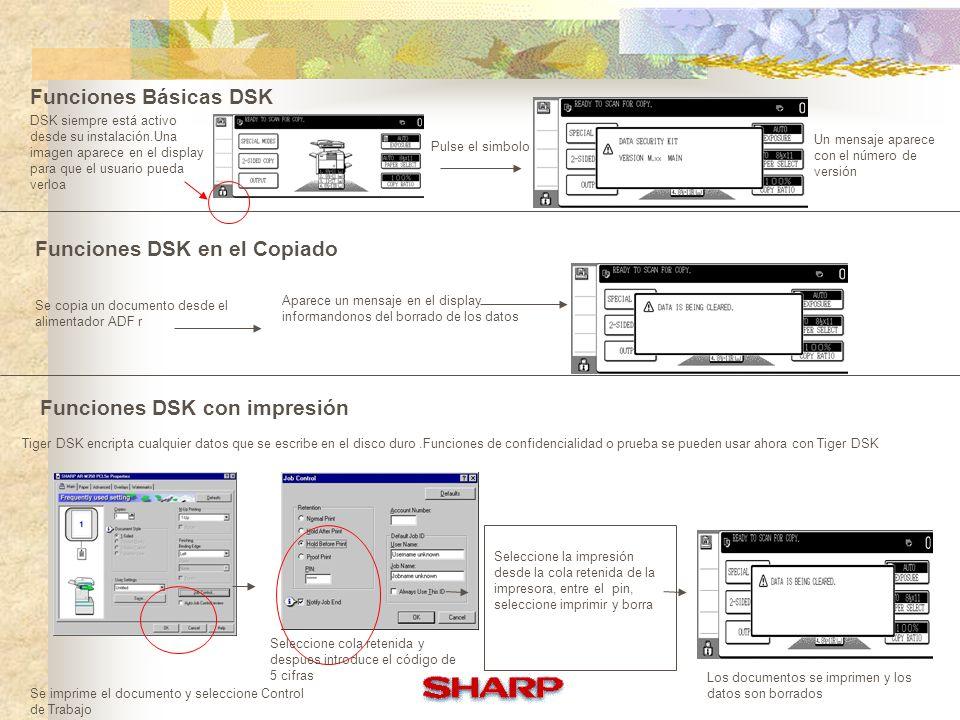 Funciones DSK en el Copiado