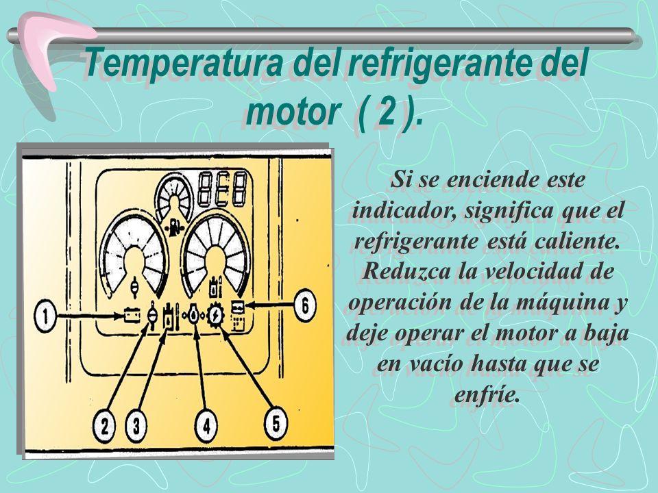 Temperatura del refrigerante del motor ( 2 ).