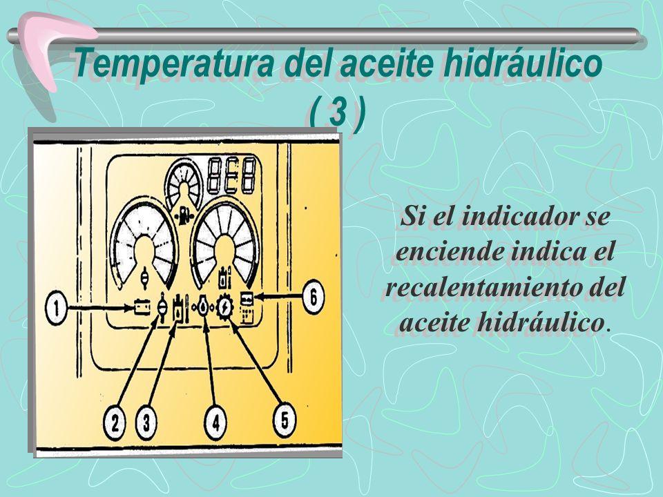 Temperatura del aceite hidráulico ( 3 )