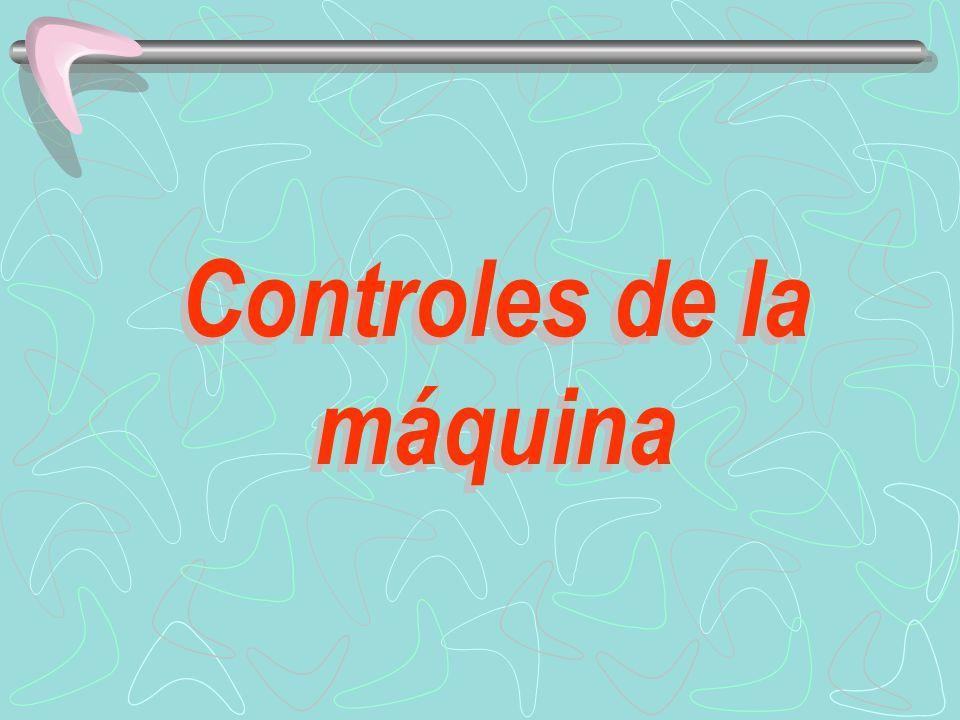 Controles de la máquina