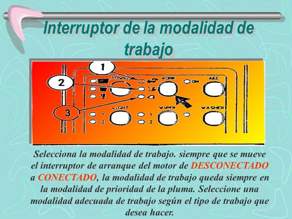 Interruptor de la modalidad de trabajo