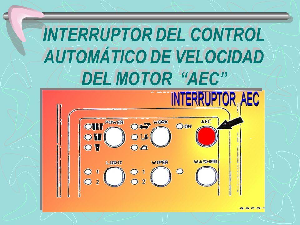 INTERRUPTOR DEL CONTROL AUTOMÁTICO DE VELOCIDAD DEL MOTOR AEC