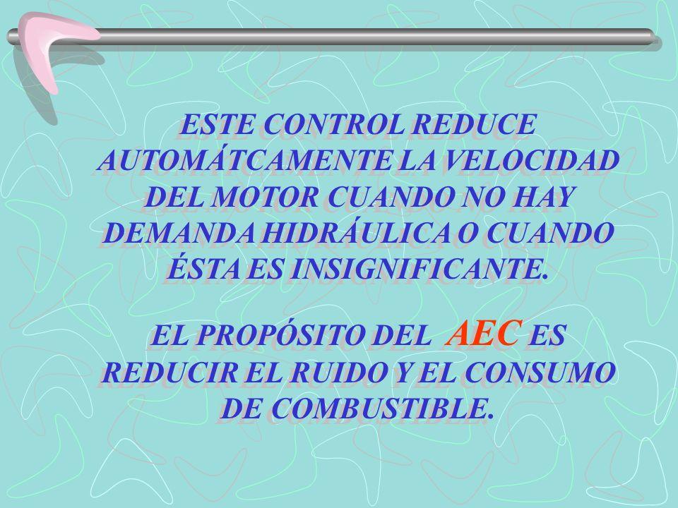 EL PROPÓSITO DEL AEC ES REDUCIR EL RUIDO Y EL CONSUMO DE COMBUSTIBLE.