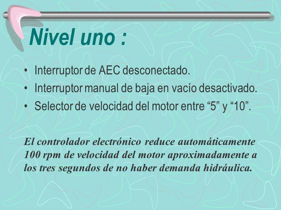 Nivel uno : Interruptor de AEC desconectado.