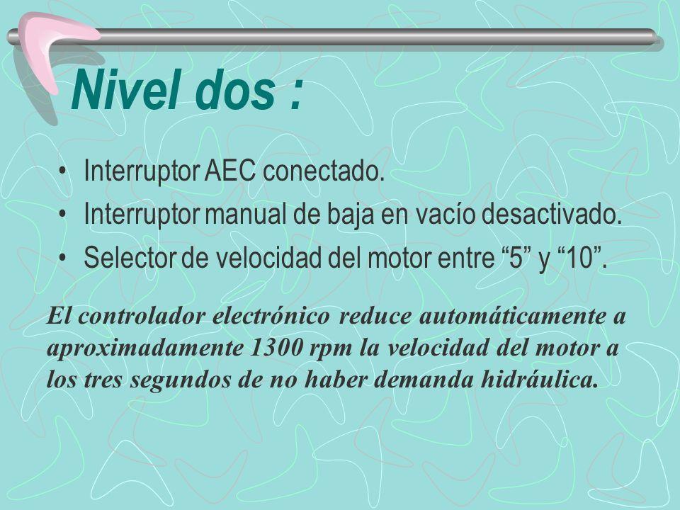 Nivel dos : Interruptor AEC conectado.