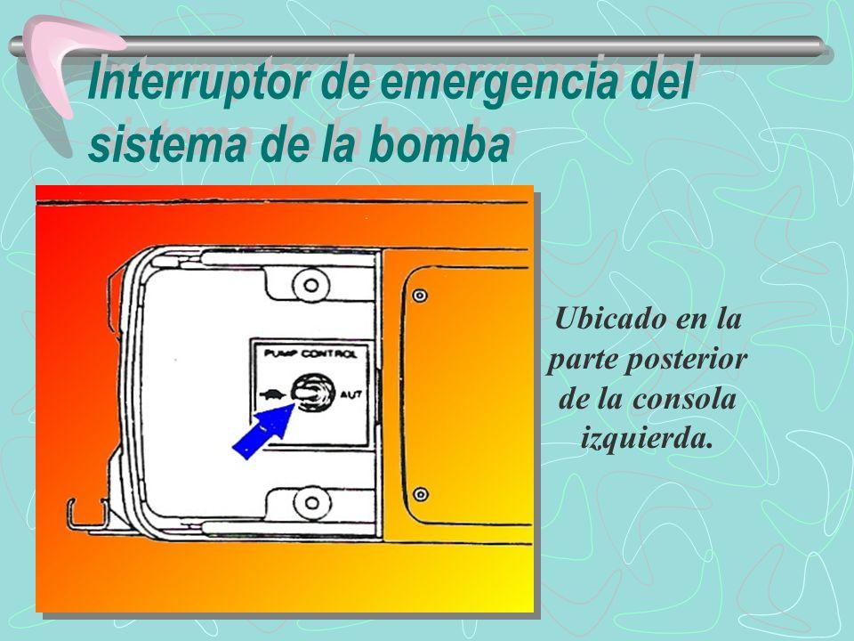 Interruptor de emergencia del sistema de la bomba