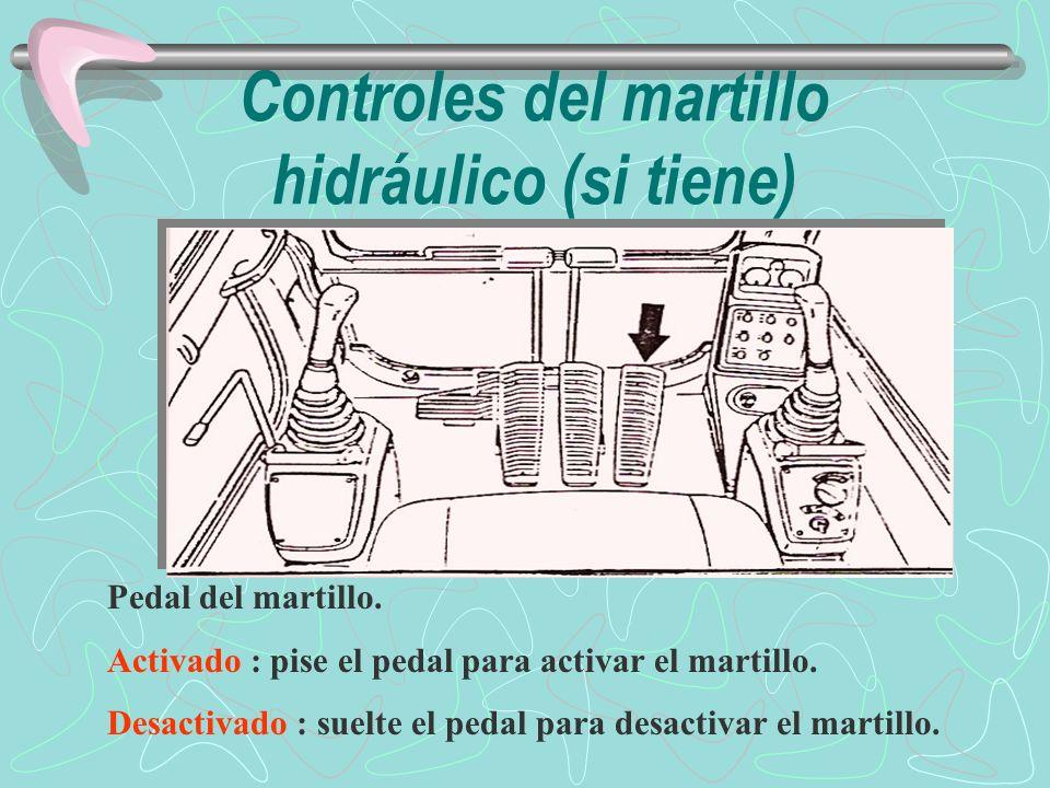Controles del martillo hidráulico (si tiene)