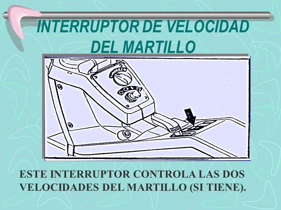INTERRUPTOR DE VELOCIDAD DEL MARTILLO