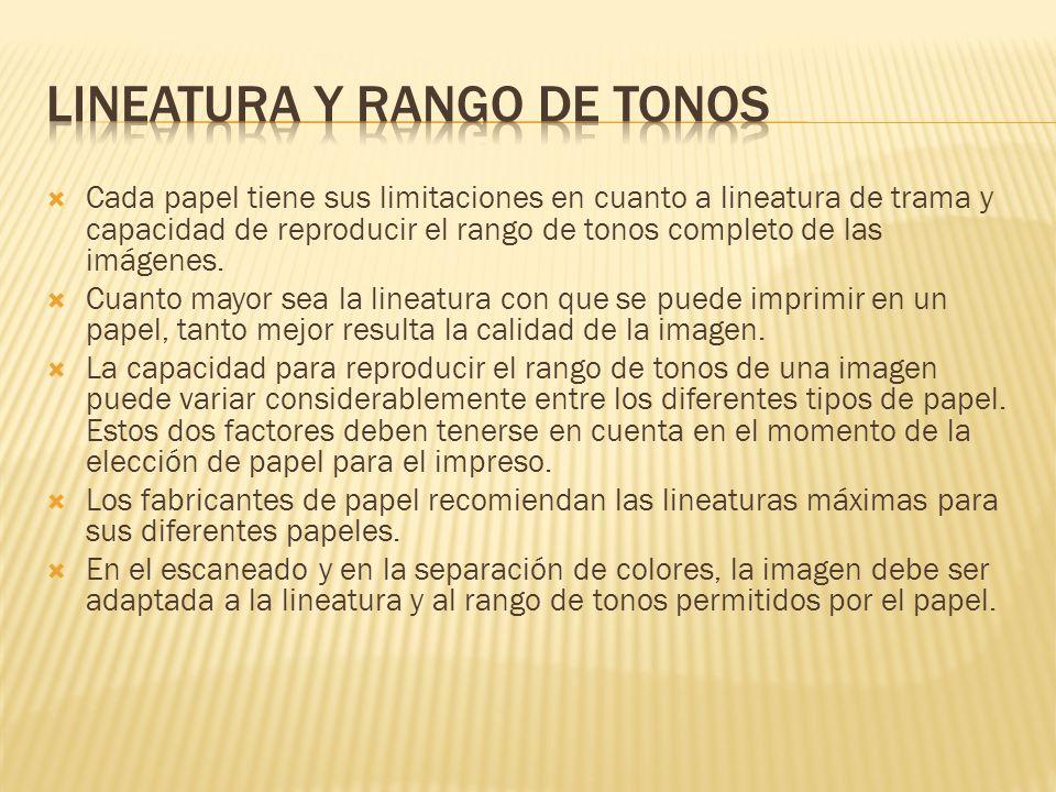 LiNEATURA y RANGO DE TONOS