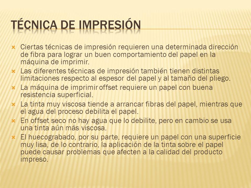 TÉCNICA DE IMPRESIÓN