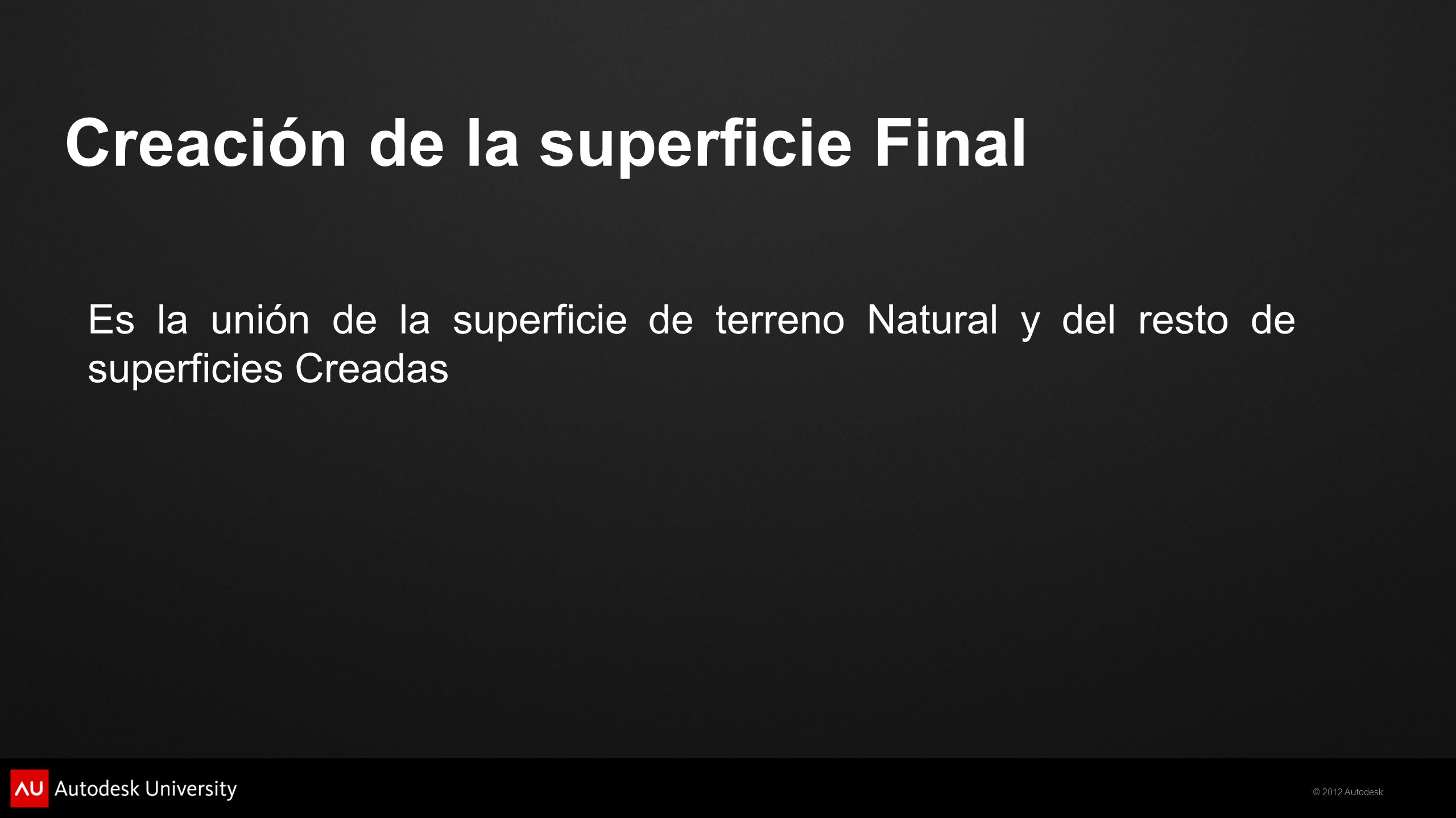 Creación de la superficie Final
