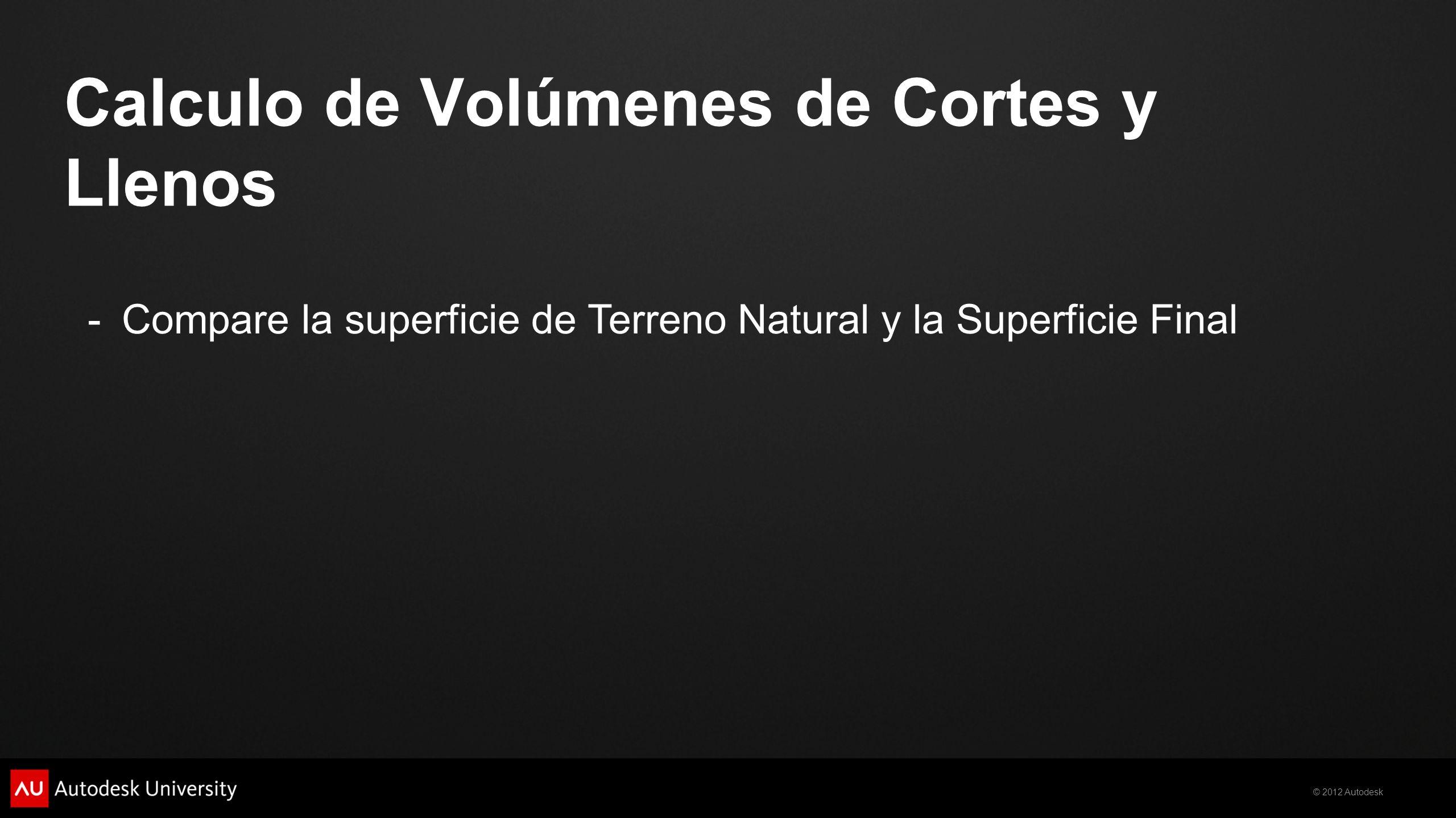 Calculo de Volúmenes de Cortes y Llenos
