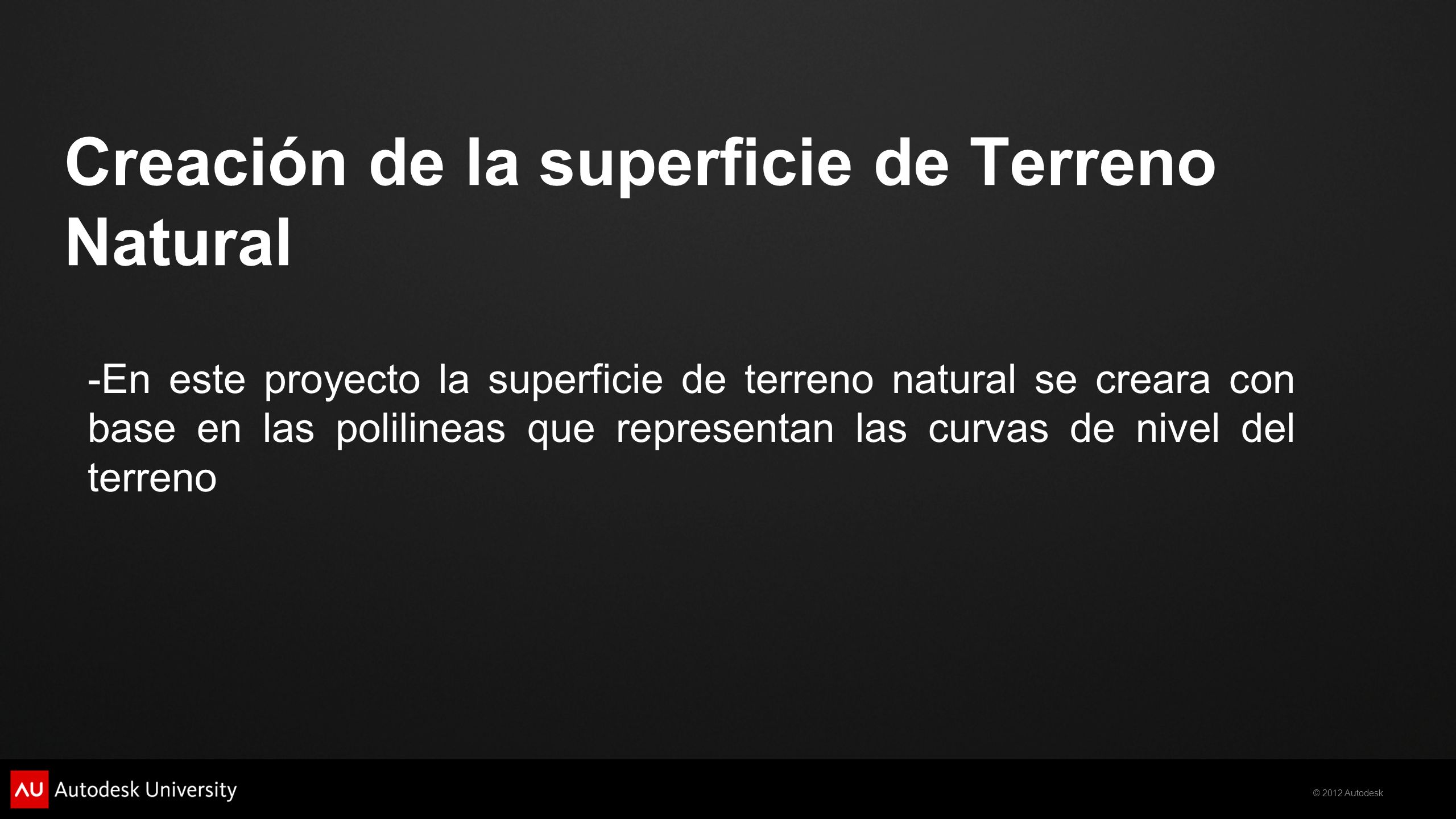 Creación de la superficie de Terreno Natural