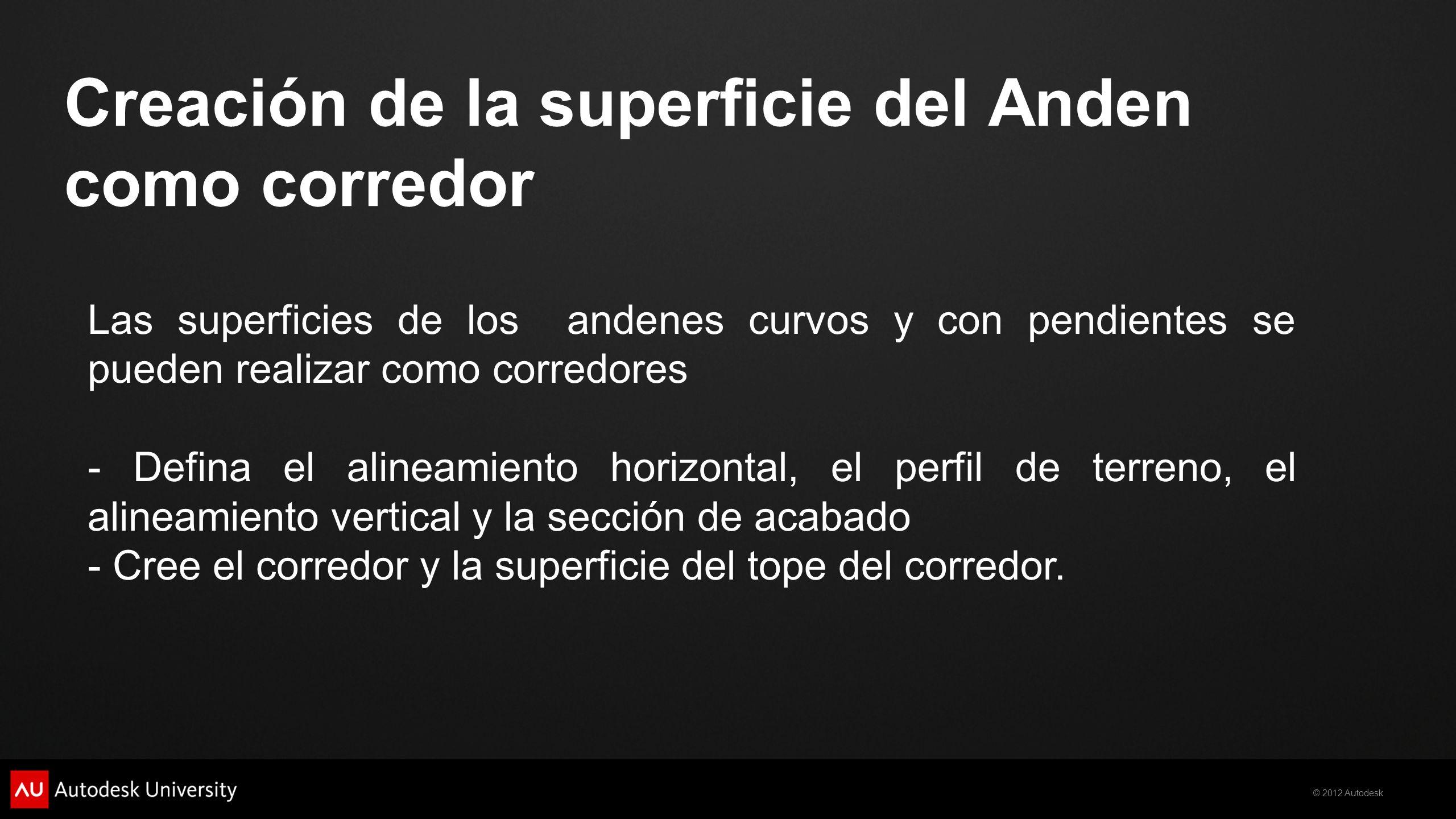Creación de la superficie del Anden como corredor