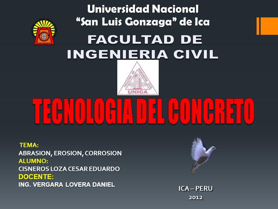 San Luis Gonzaga de Ica TECNOLOGIA DEL CONCRETO