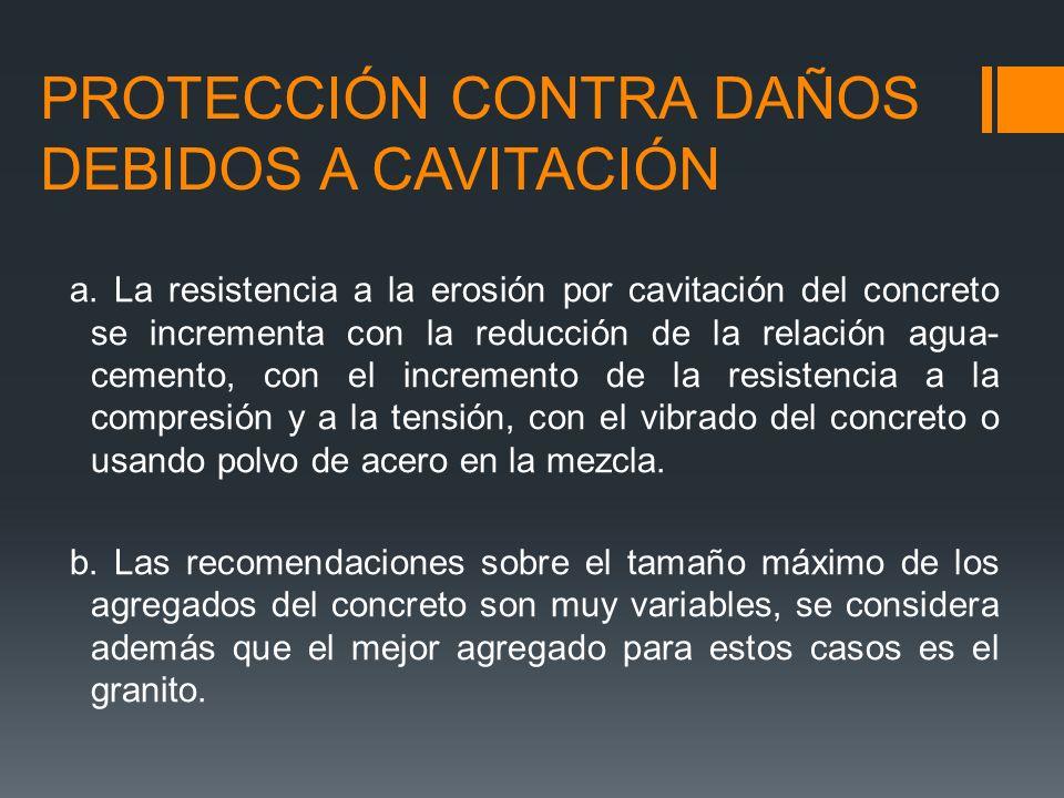 PROTECCIÓN CONTRA DAÑOS DEBIDOS A CAVITACIÓN
