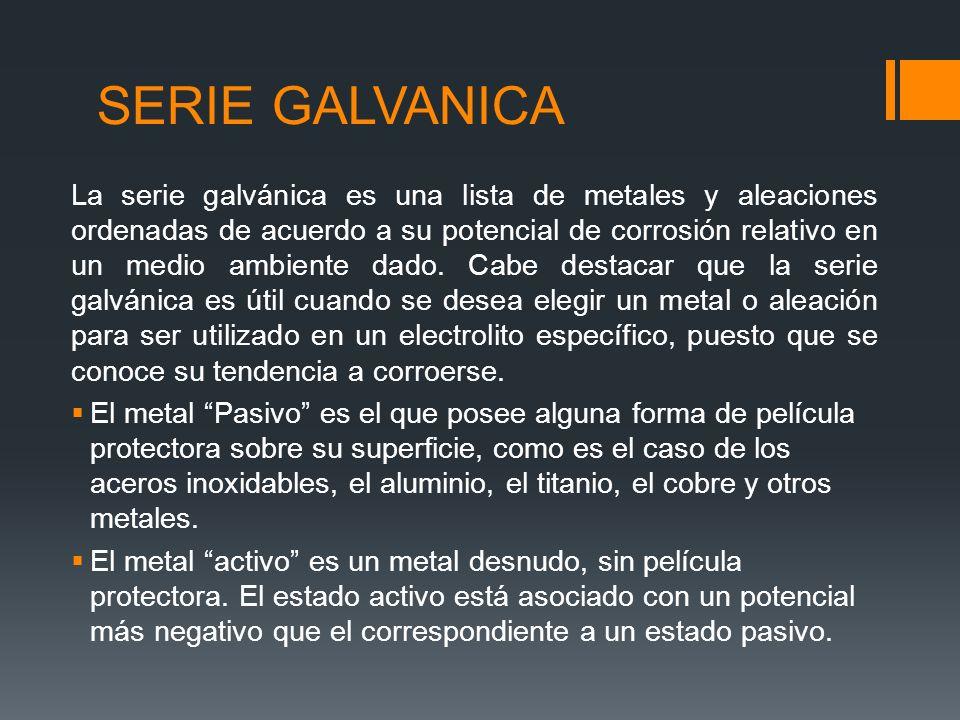 SERIE GALVANICA