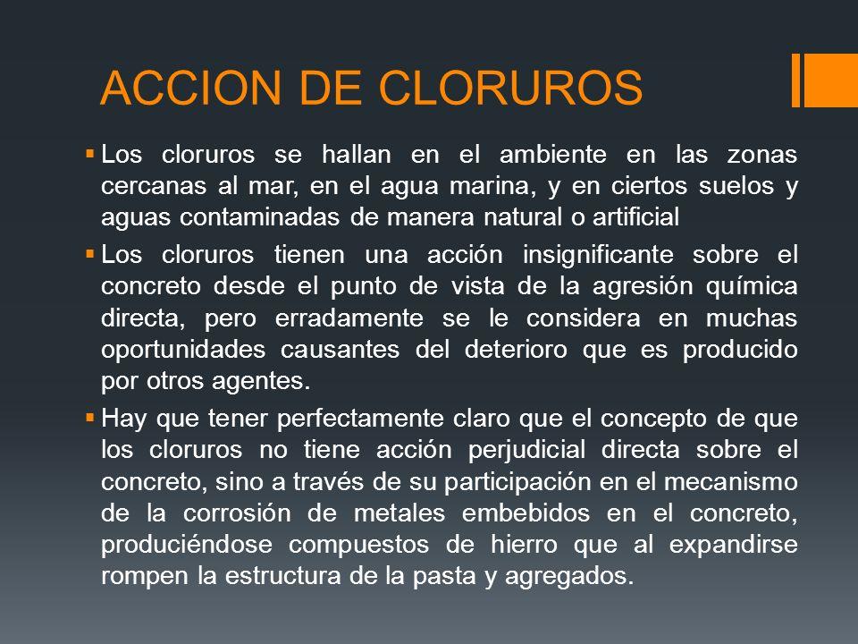 ACCION DE CLORUROS