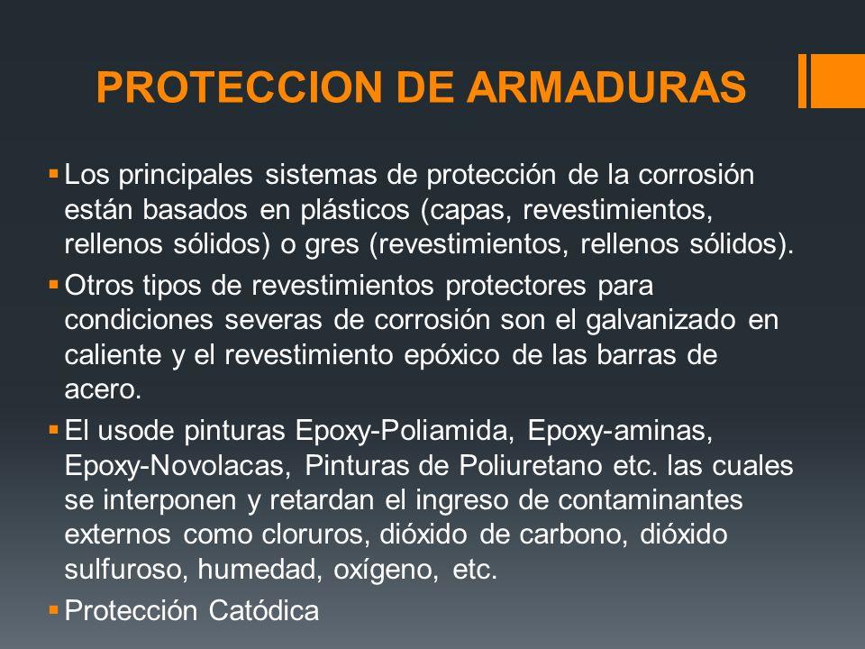 PROTECCION DE ARMADURAS